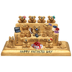 Customized Bear Bunch Figurine with 8 to 14 Bears