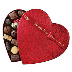 Fannie May 2 Pound Assorted Chocolate Heart Box