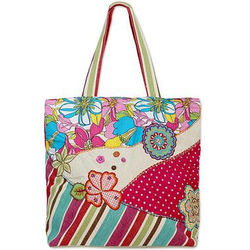 Gaya Garden Cotton Tote Handbag