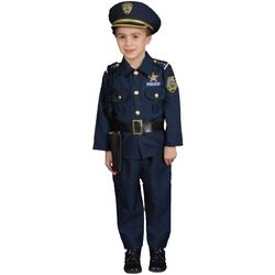 Child's Deluxe Police Dress Up Costume