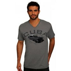 Men's Cuba Classic Car V-Neck T-Shirt