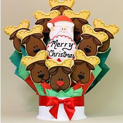 Santa Claus Is Coming To Town Cookie Bouquet