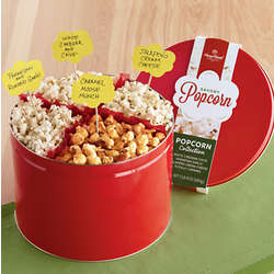 Holiday Sweet and Savory Popcorn Gift Tin
