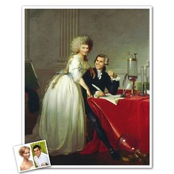 Chemist and His Wife Personalized Portrait Masterpiece Print