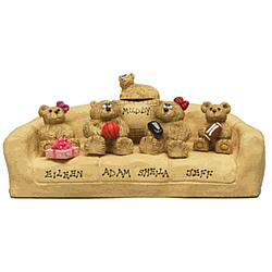 Personalized Teddy Bear Family Figurine