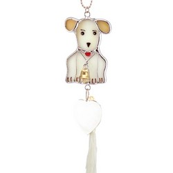 Stained Glass Puppy Ornament Sun Catcher
