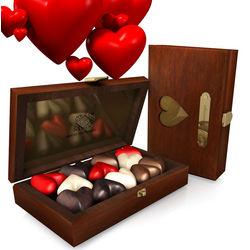 Touché! Assorted Chocolate Hearts in a Box