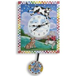 Cow Jumped Over the Moon Pendulum Nursery Clock