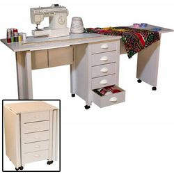 Mobile Double Desk and Craft Center