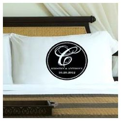Personalized Black Monogrammed Pillow Case Set