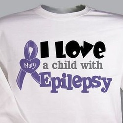 Personalized I Love A Child With Epilepsy Sweatshirt