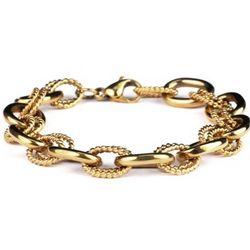 Men's 14K Gold Plated Link Bracelet