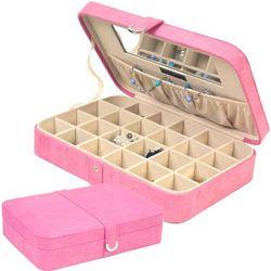 Plush Pink Jewelry Organizer