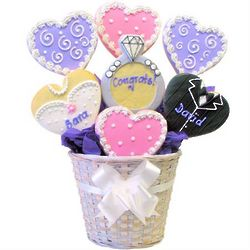 Personalized Wedding Shortbread Cookie Bouquet