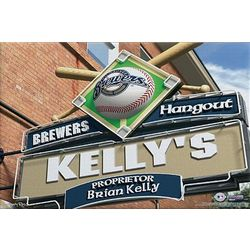 Milwaukee Brewers Personalized Pub Sign