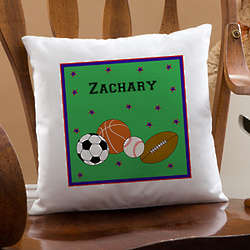 Personalized Boy's Throw Pillow