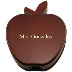 Personalized Apple Rosewood Box