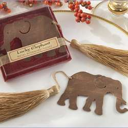 Lucky Elephant Bookmarks with Silk Tassel