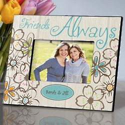 Personalized Flower Power Everlasting Friends Picture Frame