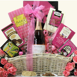 Celebrate Love Bridal Shower or Wedding Wine Gift Basket
