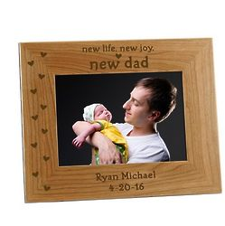 New Dad Personalized 5x7 Photo Frame