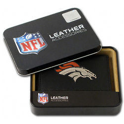 Denver Broncos Leather Trifold Wallet