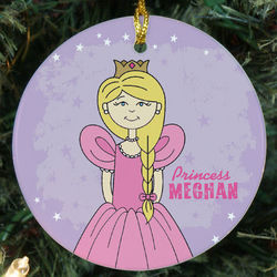Princess Personalized Ceramic Ornament