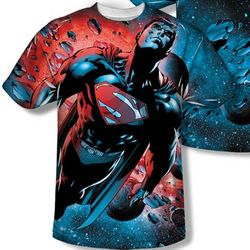 Superman All-Over Design T-Shirt