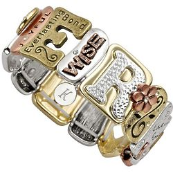 Personalized Sentiment Tile Bracelet