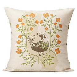Birds and Blooms Individual State Pillow