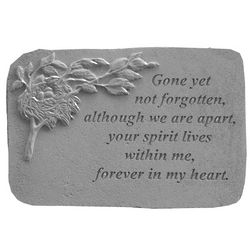 Gone Yet Not Forgotten with Nest Garden Memorial Stone