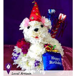 Birthday Poodle Bouquet