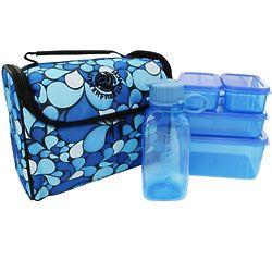 Litter Free Blue Lunch Bag Kit