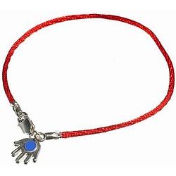Red Enamel Hamsa Bendel Bracelet