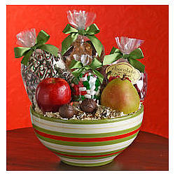 Merry Mixing Bowl Gourmet Gift