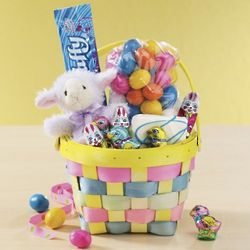 Lamb Plush Easter Basket