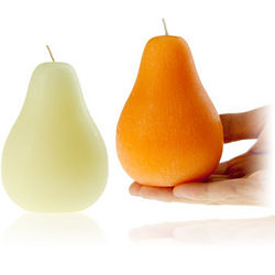 Brushed-Texture Pear Scented Candle