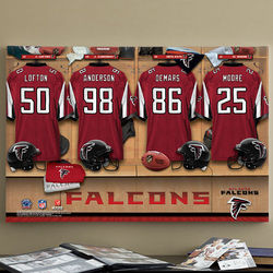 Atlanta Falcons Personalized Locker Room Canvas Print