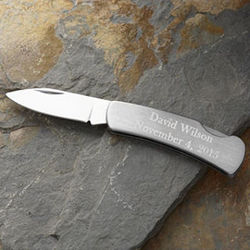 Personalized Stainless Steel Pocket Knife