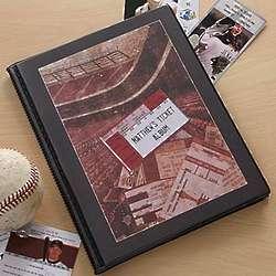 Personalized Sports Ticket Stub Scrapbook Album