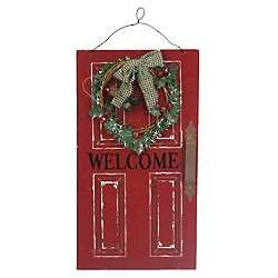 Holiday Welcome Door Plaque