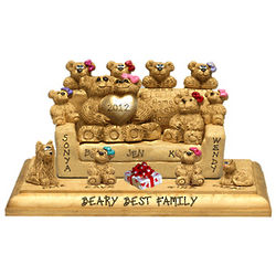 Personalized Bear Couple Figurine with 8 to 12 Kids