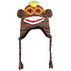 Nerd Boy Monkey Earflap Hat