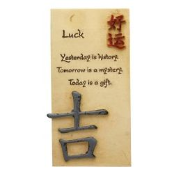 Today Is A Gift Inspirational Quote Luck Plaque