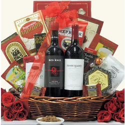 Red Lovers Anniversary Gift Basket