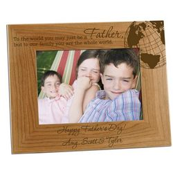 Worldly Father 5x7 Personalized Photo Frame