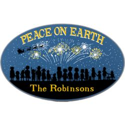 Peace on Earth Personalized Wall Sign