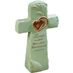 1 Corinthians 13 Cross Sculpture