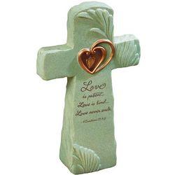 1 Corinthians 13 Cross Sculpture