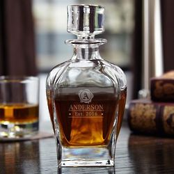 Personalized Wax Seal Whiskey Decanter